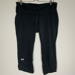 Underarmor reflective black running Capri leggings